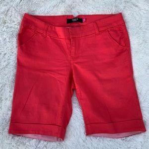Torrid denim EUC size 12 Bermuda fit shorts red